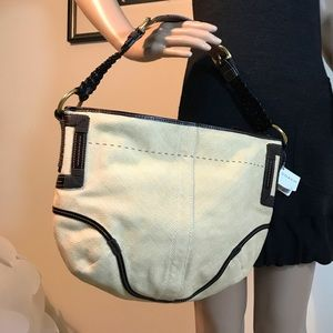 NWT Coach Natural Straw Large Hobo Leather Strap